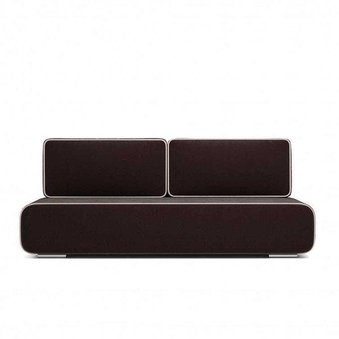 Диван-кровать  Рокки коричневого цвета