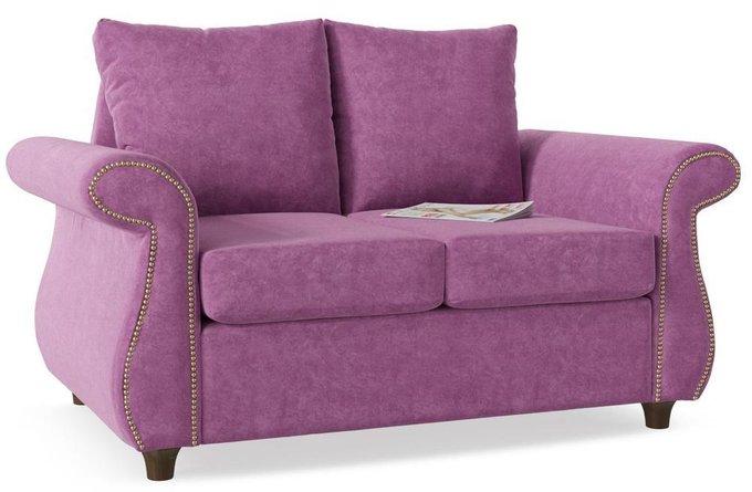 Диван прямой Шале дизайн 10 фиолетового цвета