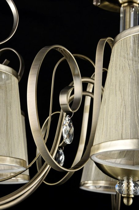 Потолочная люстра Simone с плафонами из органзы
