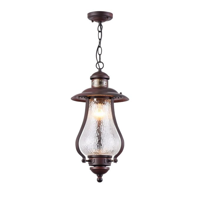 Уличный подвесной светильник La Rambla коричневого цвета