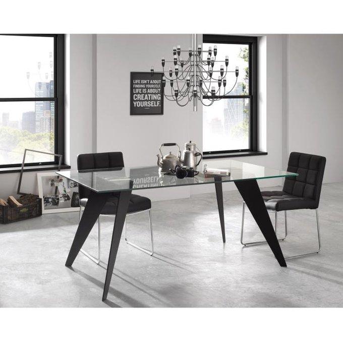 Прямоугольный обеденный стол Julia Grup Nack со стеклянной столешницей
