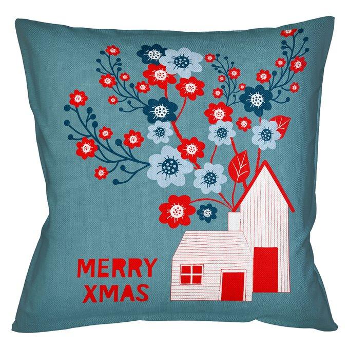 Декоративная арт подушка Новогоднее настроение версия 12