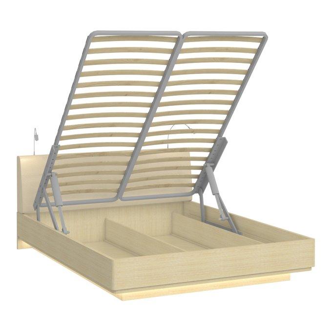 Двуспальная кровать с верхней и нижней подсветкой Элеонора 160х200