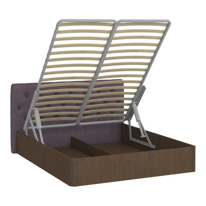 Кровать Сиена 180х200 с сиреневым изголовьем и подъемным механизмом