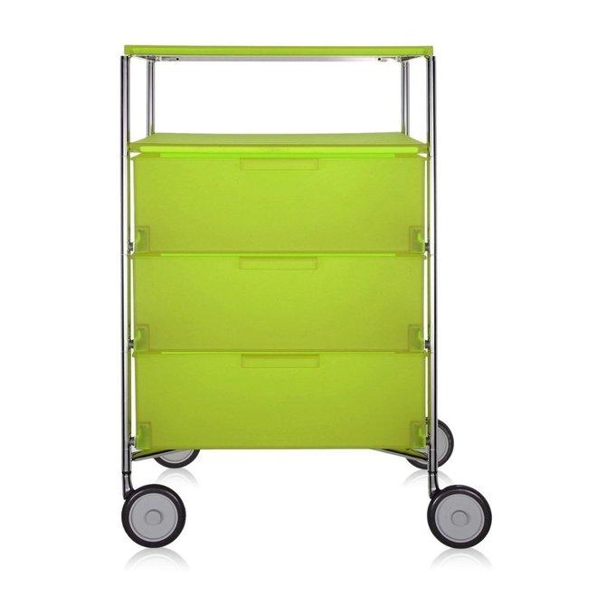 Комод Mobil светло-зеленого цвета на колесах