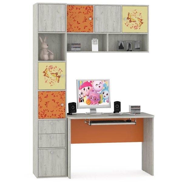 Комплект мебели для школьника Тетрис с принтом Бабочки