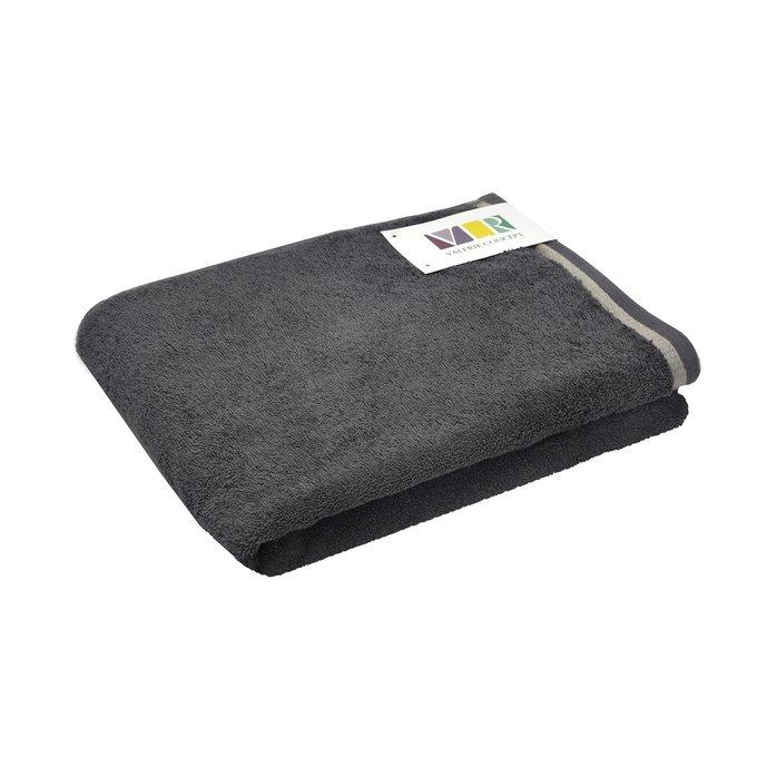 Полотенце из хлопка темно-серого цвета 70х140