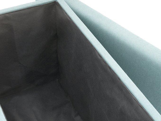 Пуф Craft3 с ёмкостью для хранения голубой