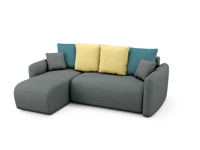 Угловой Диван-кровать Arti левый темно-серого цвета
