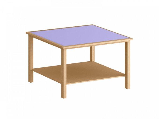 Стол журнальный Куб с фиолетовой столешницей
