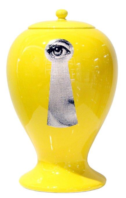 Декоративная ваза с крышкой Serratura Yellow II