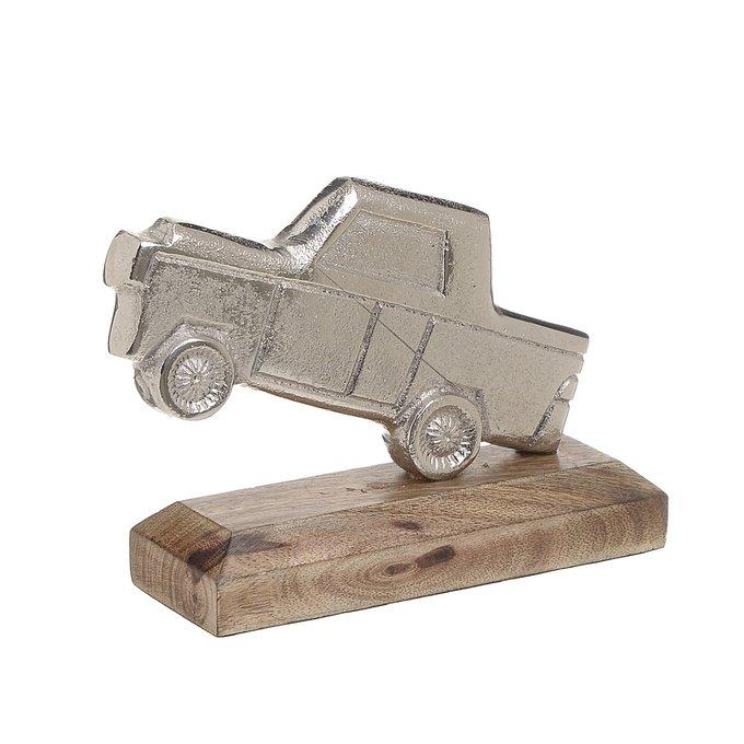 Статуэтка Машина из дерева и алюминия