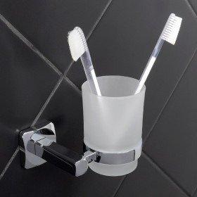 Стакан настенный для зубных щеток BISK Ice