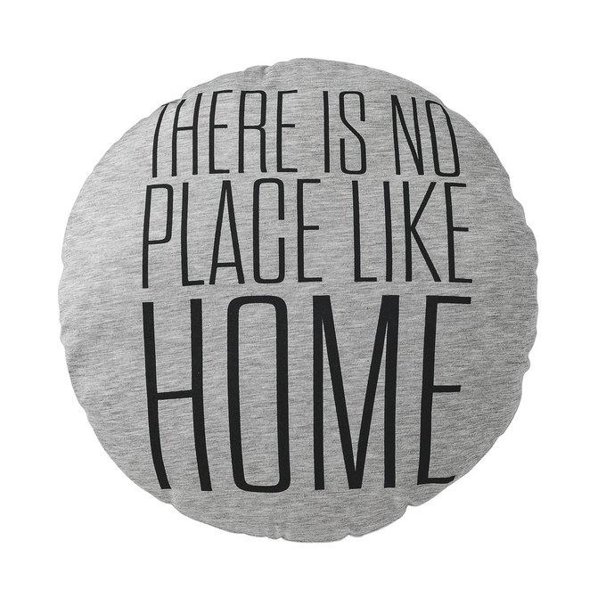 Круглая подушка Home серого цвета