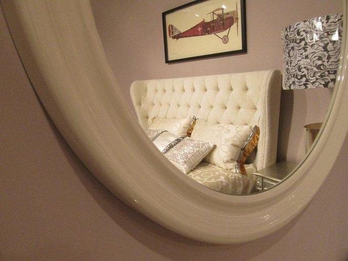 Настенное зеркало Palermo в бежевой раме