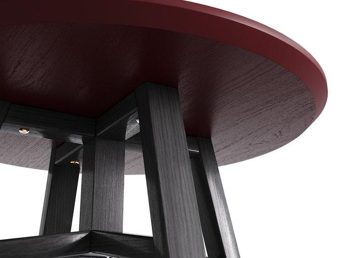 Журнальный стол Mack чёрный дуб / марсала