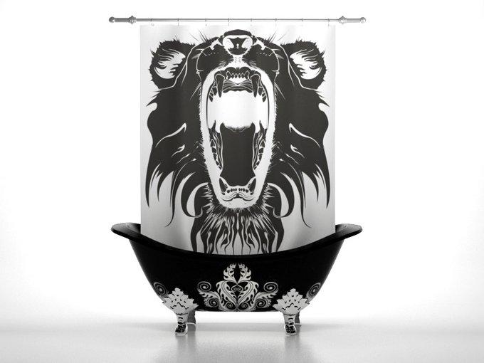 Штора для ванной: Львиная пасть