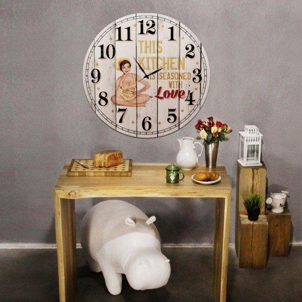 Часы настенные круглые This kitchen из дерева