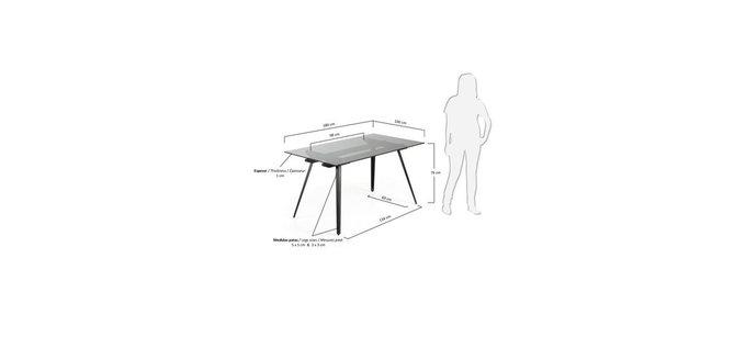 Прямоугольный обеденный стол Julia Grup Klippan со стеклянной столешницей