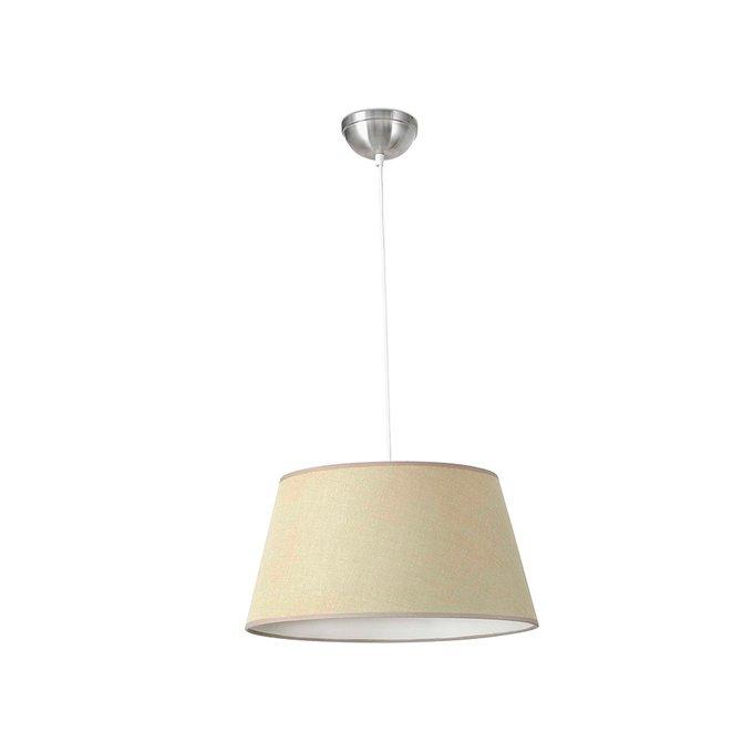 Подвесной светильник Faro Mitic с бежевым абажуром