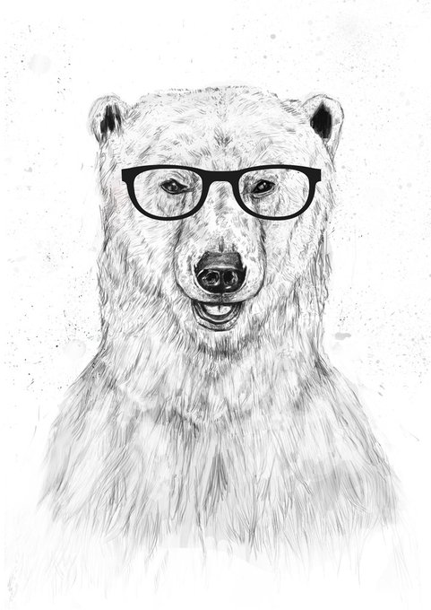 Принт «Geek Bear» by Balazs Solti