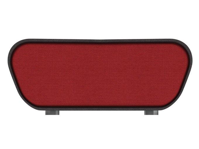 Пуф Neya серо-красного цвета