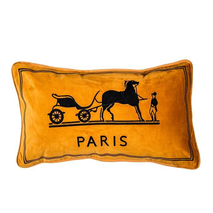 Декоративная подушка Old Paris оранжевого цвета