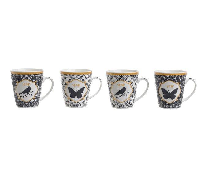 Набор из четырех фарфоровых чашек