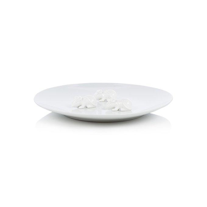 Тарелка Plate белого цвета