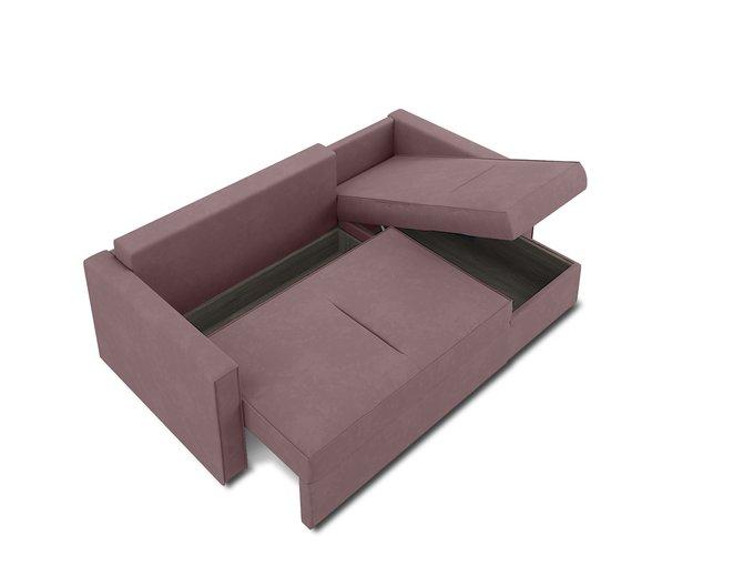 Угловой диван-кровать Macao темно-розового цвета