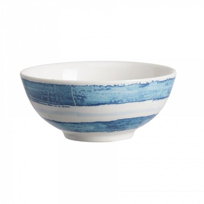 Керамическая пиала в морском стиле в полоску