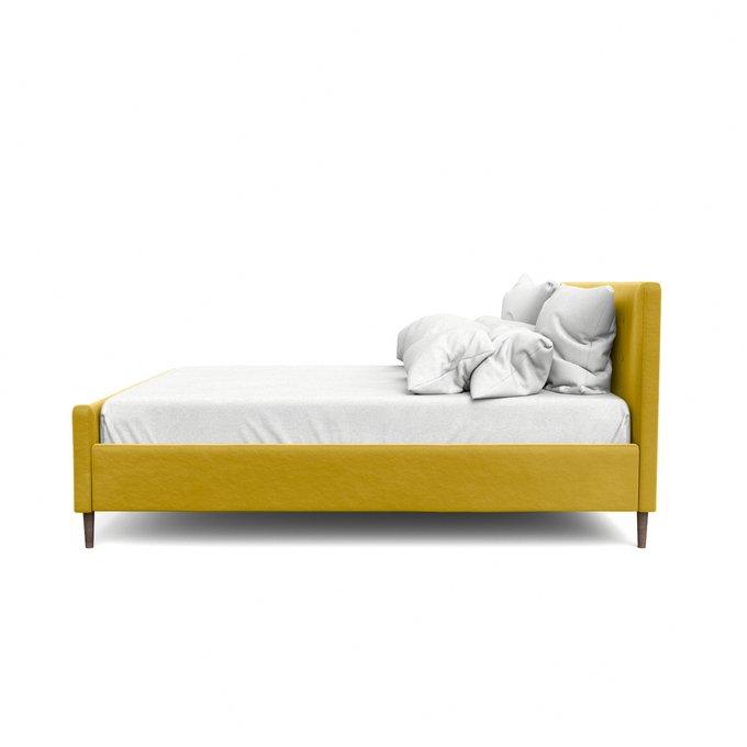Двухспальная кровать Кристина желтого цвета 140х200