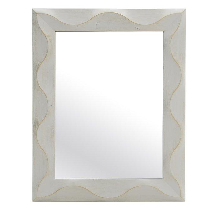 Зеркало настенное белого цвета