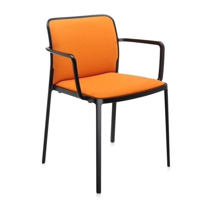 Стул Audrey Soft с подлокотниками оранжевого цвета