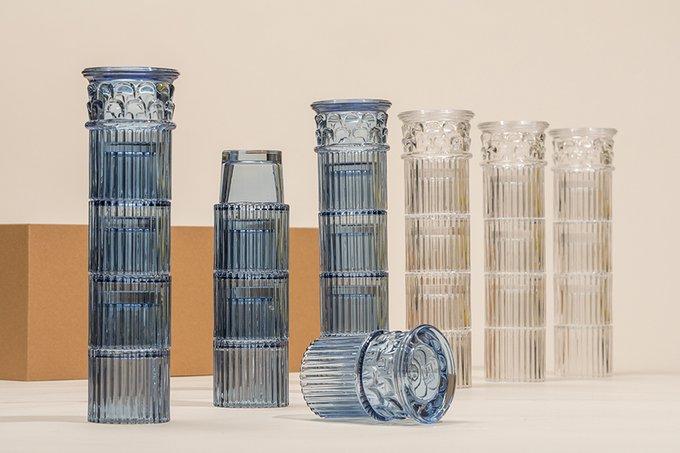 Набор из четырех стеклянных бокалов Doiy hestia