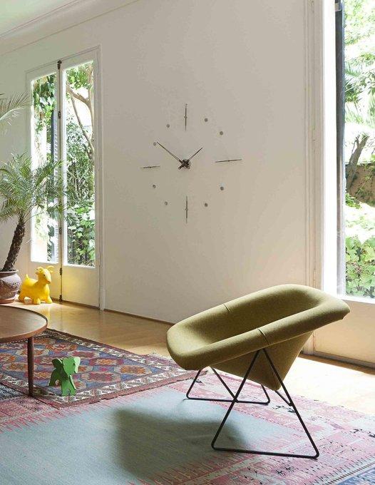 Настенные часы Mixto из дерева и стали