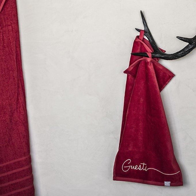 Набор из двух полотенец для рук Guests бордового цвета