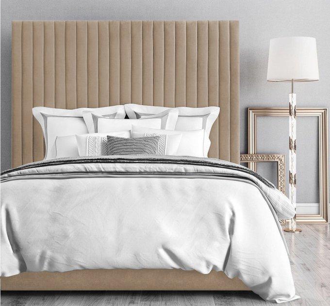 Кровать Марчелла с подъемным механизмом  бежевого цвета 160х200