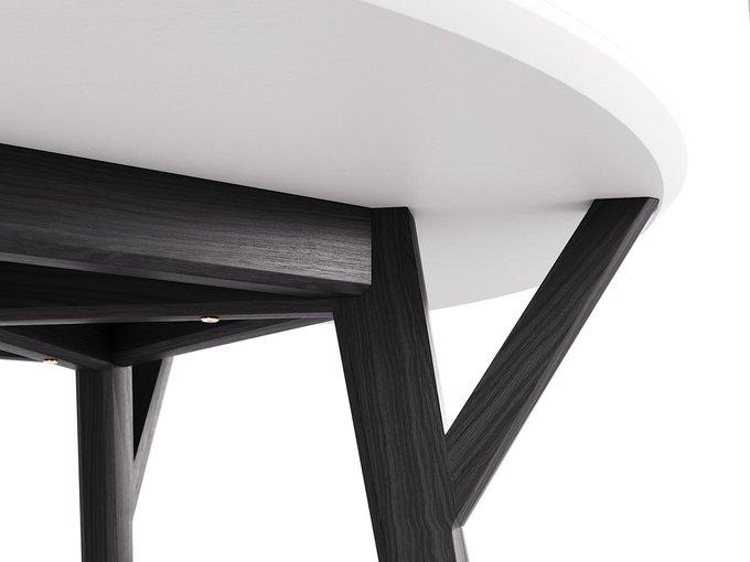 Обеденный стол Circle чёрный дуб / молочный