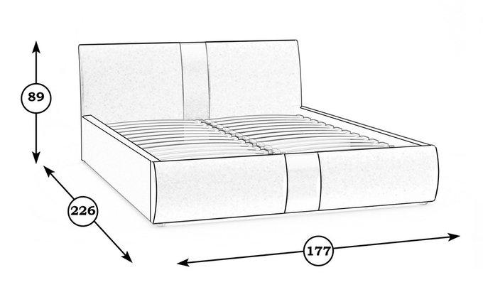 Кровать Челси бежевого цвета 160х200
