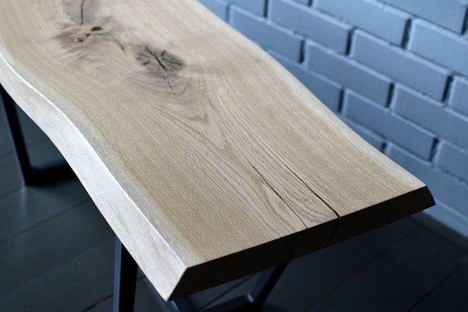 Журнальный стол Wood&Steel из цельного слэба дуба