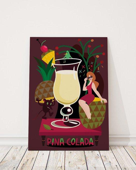 Постер Pina colada на холсте