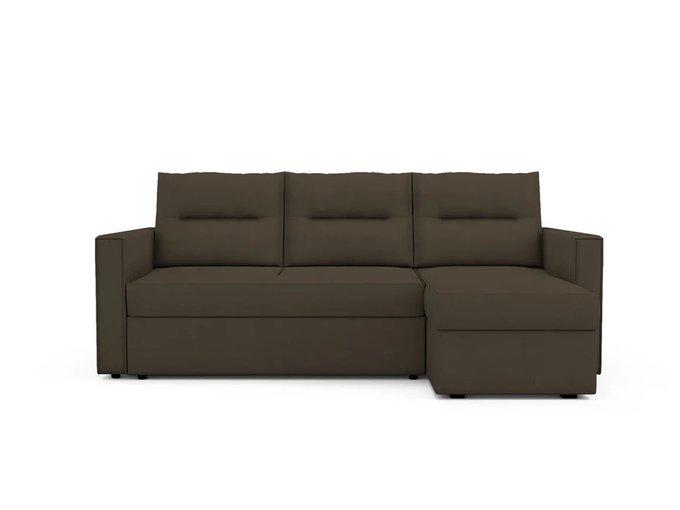 Угловой Диван-кровать  Macao правый темно-коричневого цвета