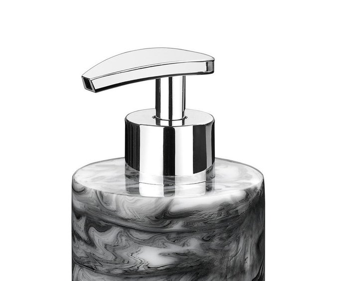 Диспенсер для жидкого мыла Smoked Marble с эффектом черного мрамора
