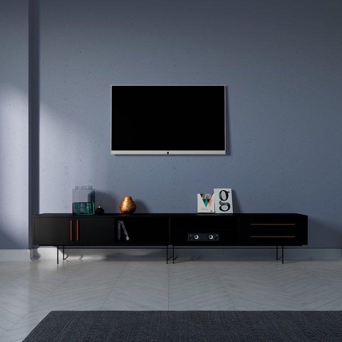 Тумба ТВ  Slim черного цвета