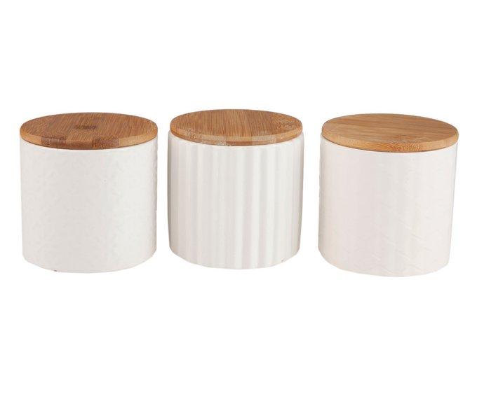 Набор из трех керамических банок