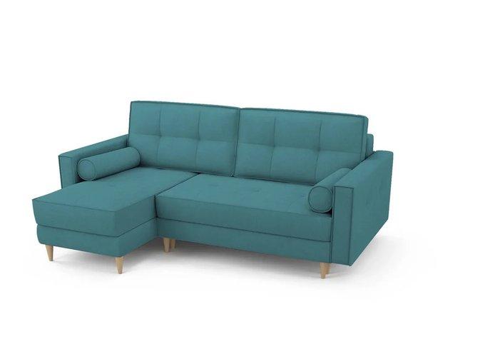 Угловой Диван-кровать Отто бирюзового цвета