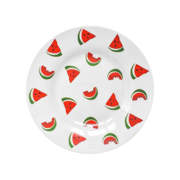 Тарелка Watermelon с арбузным рисунком из фарфора
