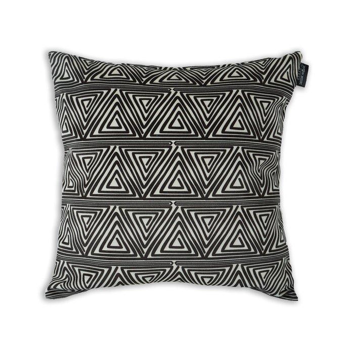 Декоративная подушка Bengi черно-белого цвета 45х45