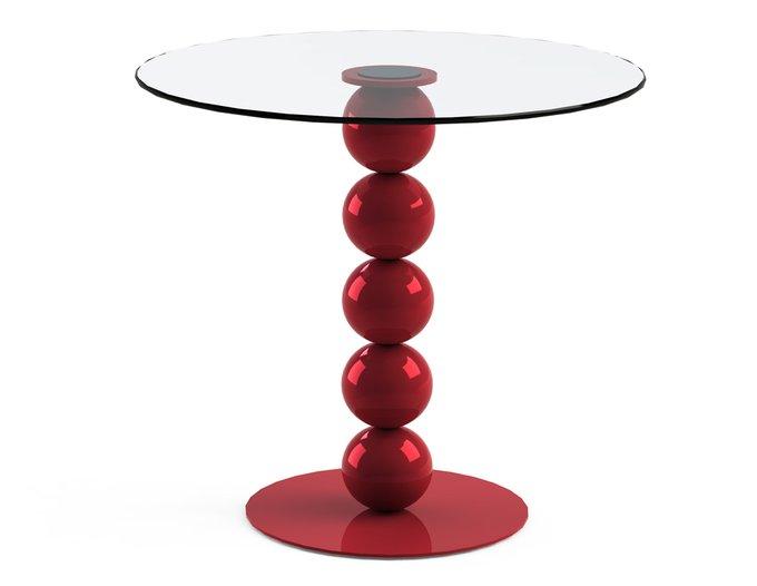 """Обеденный стол """"BLINTER Red"""" со столешницей из закаленного стекла"""